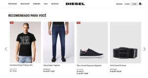E-commerce da Diesel eleva experiência de compra com inteligência artificial