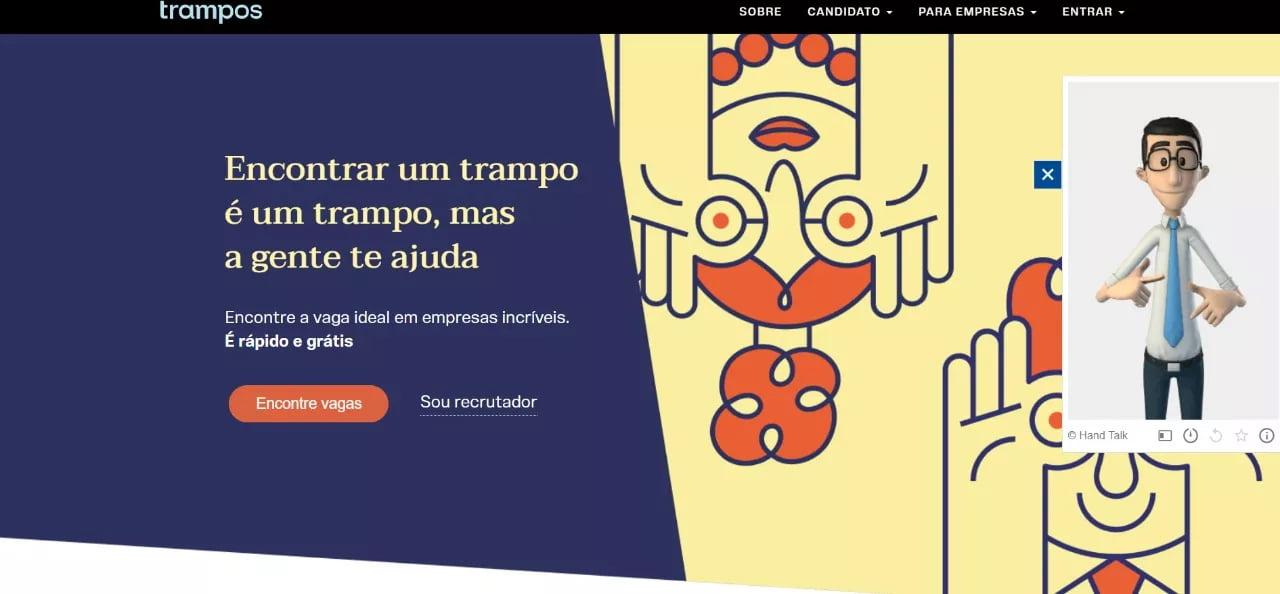 Trampos.co realiza parceria com a Hand Talk para ajudar pessoas surdas a buscar emprego